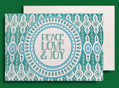 Peace Love & Joy Letterpress