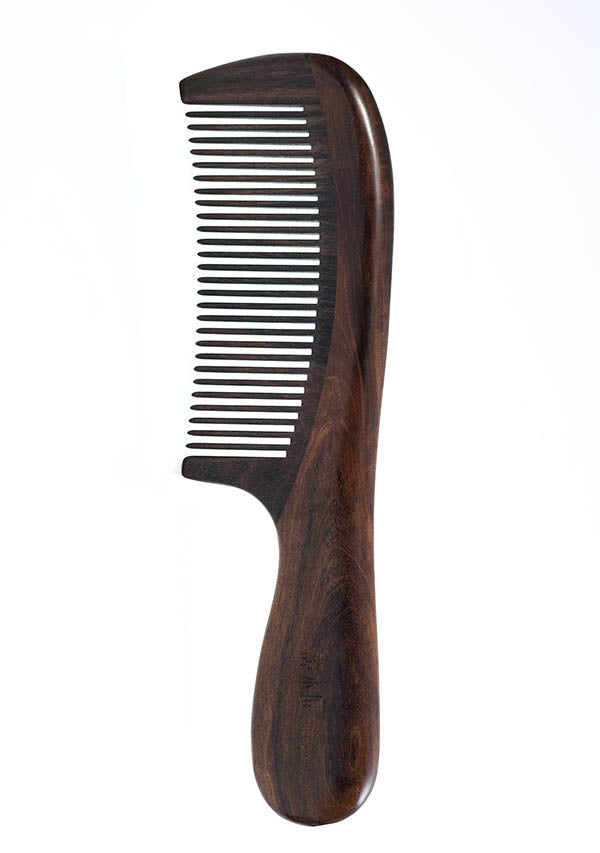 Sleek Wooden Hair Comb