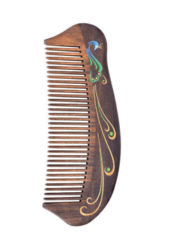 Peacock Plume Hair Comb