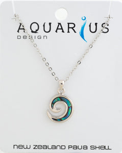 Inlay Koru Pendant