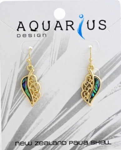 Gold Paua Leaf