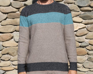 Men Textured Crew Sweater