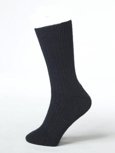 Black Possum Merino Socks