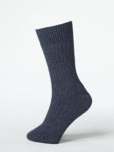 Denim possum merino socks