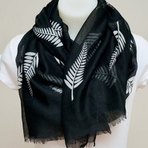 White small fern scarf