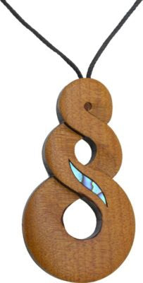 Wooden Twist Pendant