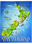 Map Tea Towel NZ Collection
