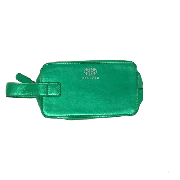 Mini pouch Green Metallic