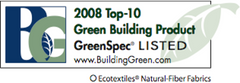 GreenSpec Listed. Top-10 Green Building Product.