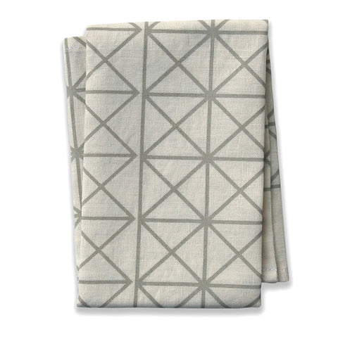 Grid Neutral Tea Towel