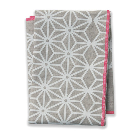 Star Pink Tea Towel