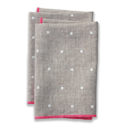 Dot Pink Large Napkins (set of 4)