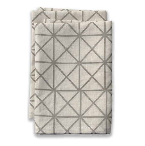 Grid Neutral Large Napkins (set of 4)