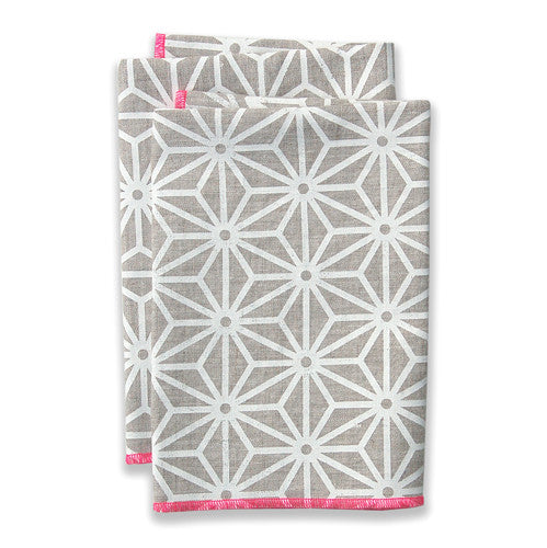 Star Pink Large Napkins (set of 4)