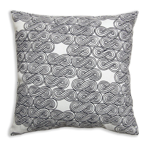 Clouds Black Pillow Cover