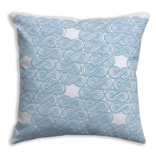 Clouds Turquoise Pillow Cover