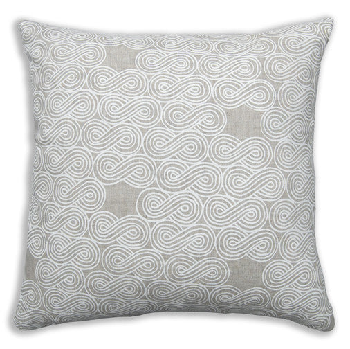 Clouds White Pillow Cover