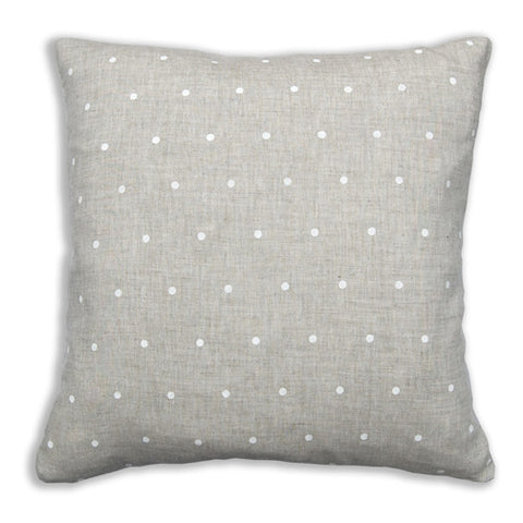 Dots White Pillow Cover