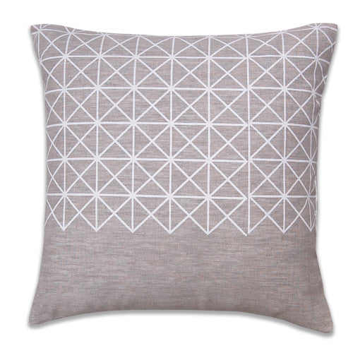 Grid Neutral Pillow Cover