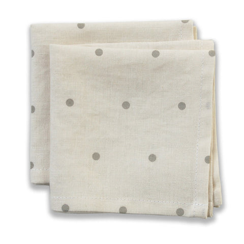 Dot Neutral Small Napkins (set of 4)