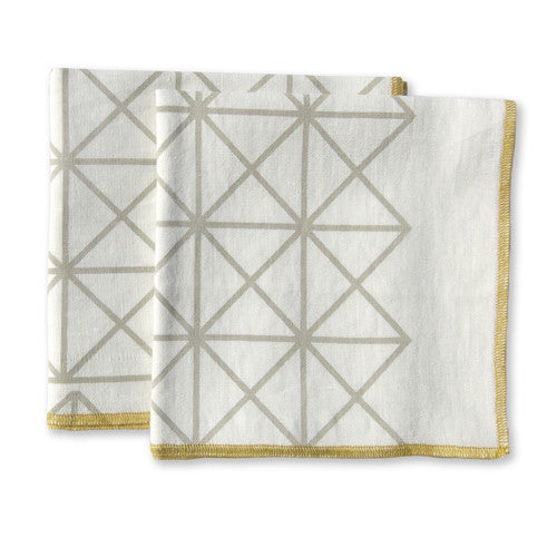 Grid Ochre Small Napkins (set of 4)