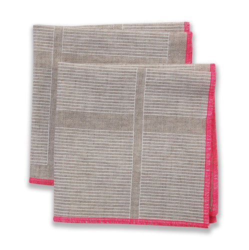 Ledger Pink Small Napkins (set of 4)