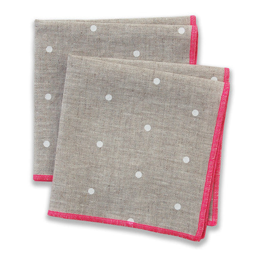 Dot Pink Small Napkins (set of 4)