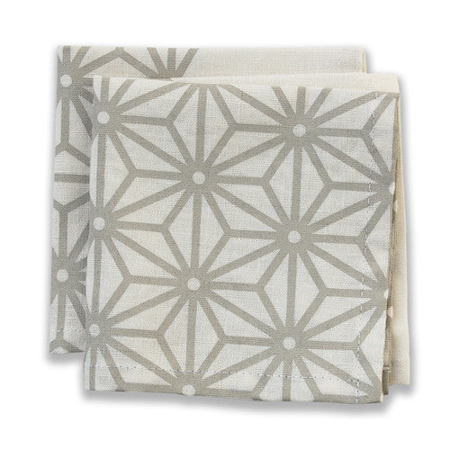 Star Neutral Small Napkins (set of 4)