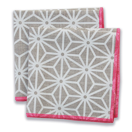 Star Pink Small Napkins (set of 4)
