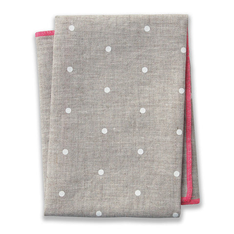 Dot Pink Tea Towel