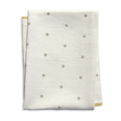 Dot Ochre Tea Towel