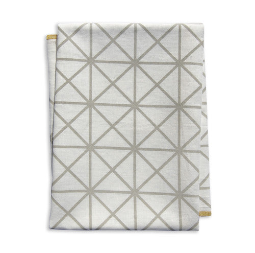 Grid Ochre Tea Towel
