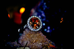 MEGA WEALTH * Circle of the Parasoa Haunted Celestial Marid Djinn of Wealth Beauty Love Wishes! Extreme Power! .925! * Occult Alchemy Magick Ring * Ultimate RICHES!
