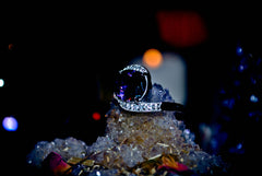 Haunted Alchemy Druid Sorceress Djinnya Genie Ring of Psychic Power, Intuition + Extreme Magic Ability! BOLD energy! Telepathy! .925! ~ White Magick LUCK * $