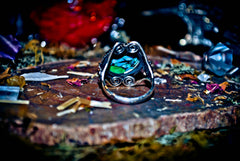 **POWER** Lucky 7 Forest Wealth Good Luck Spell Vessel Ring! ** Old Earth Magick ** Purify Your Aura & Spiritual Energy! Banish Bad Karma! Get Rid of Negative Energy! * NEW