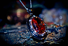 Elite Power Solarian Eye Dragon Djinn Genie Ilmu Khodam King Siragon Secret Society Amulet! * Orange Topaz 925 ~ RARE $$$ * Gain Cash, Business Success, Good Luck! $