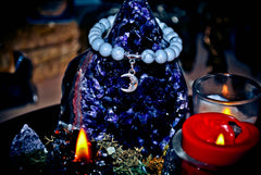 ** SAMHAIN ** Moon Magick Bracelet of the Ancients! Power & Prophecy! Metaphysical Pagan Necklace! * Wealth & Psychic Third Eye Power! * 925! Conjure Raw Energy! X10