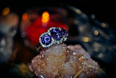 TRIPLE GODDESS HEALING * Haunted Djinn Genie of Miracles Triple Goddess HEALTH + WEALTH Jinniyah Ring! Heal Physical & Emotional Ailments Fast! .925! * 100% Pure White Magick! * BLESSED!
