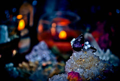**PAST LIVES** Vision Quest Psychic Lucid Dreams Astral Spirit Haunted Ring PAST PRESENT FUTURE Cosmic White Magic! AMETHYST!
