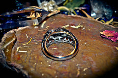 ASTRAL TIME TRAVEL Metaphysical Psychic Projection Premonition Galaxy Beaming Haunted Wiccan Pagan Spell Ring ~ MYSTIC Paradigm Shifts * Universal! Money $
