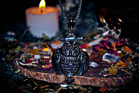 **RARE** BOHEMIAN OWL of GENIE KI Djinn Ancient Illuminati Occult Secret Society Amulet of Hidden Truths & Wealth ~ Speak To Animals, Communicate w/ Dead, Discover Past Lives * $