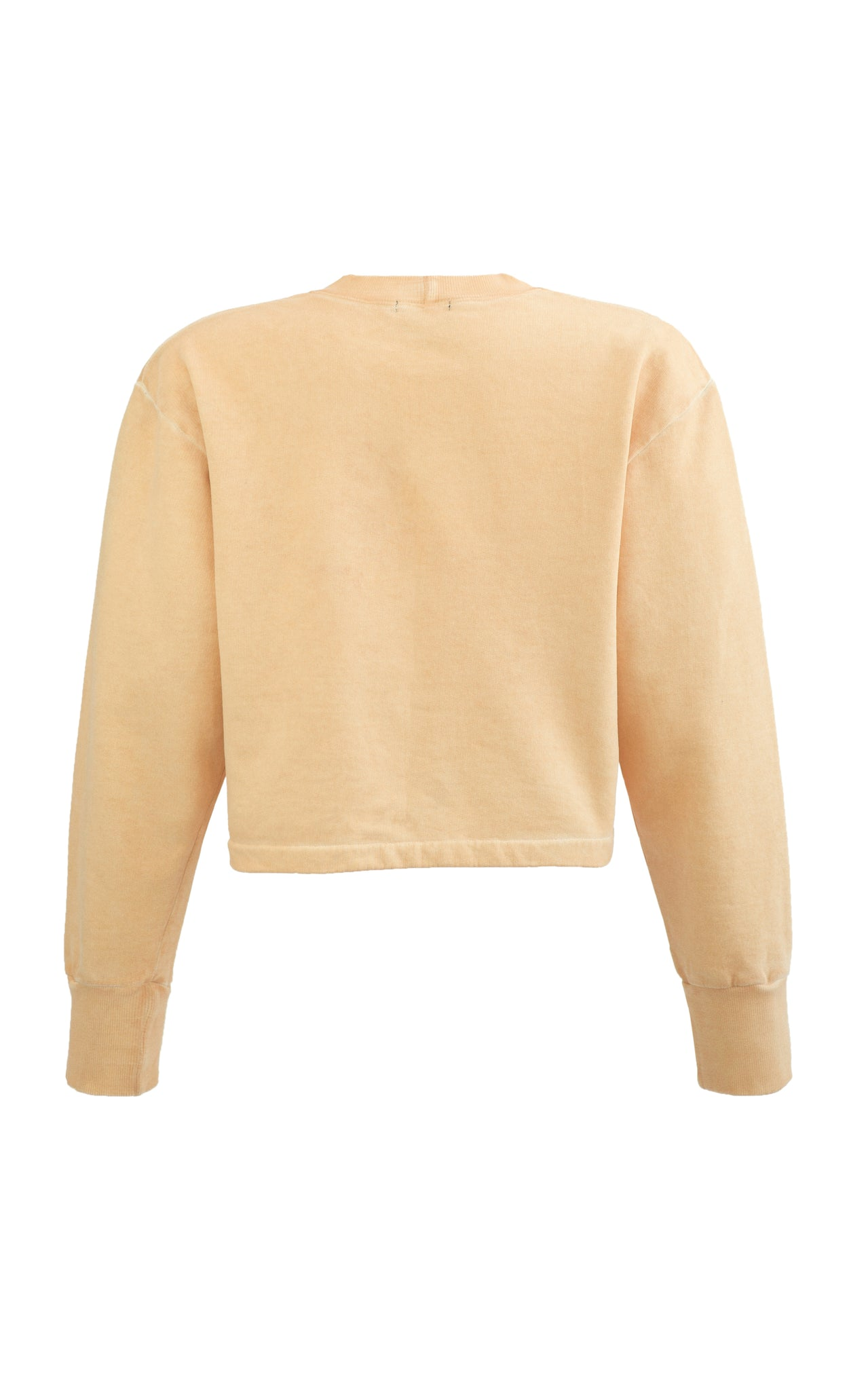Cali Crop Sweat Top. Apricot