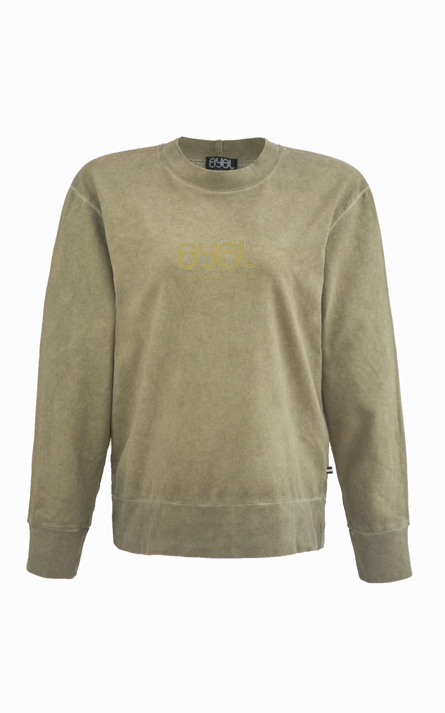 Classic Crew Wind Cheater. Khaki Green