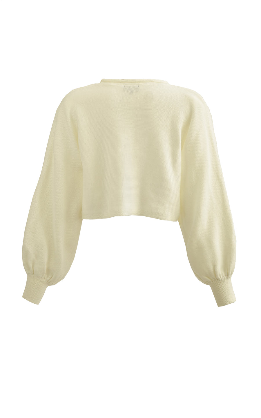 Wings Knit Sweater. Cream