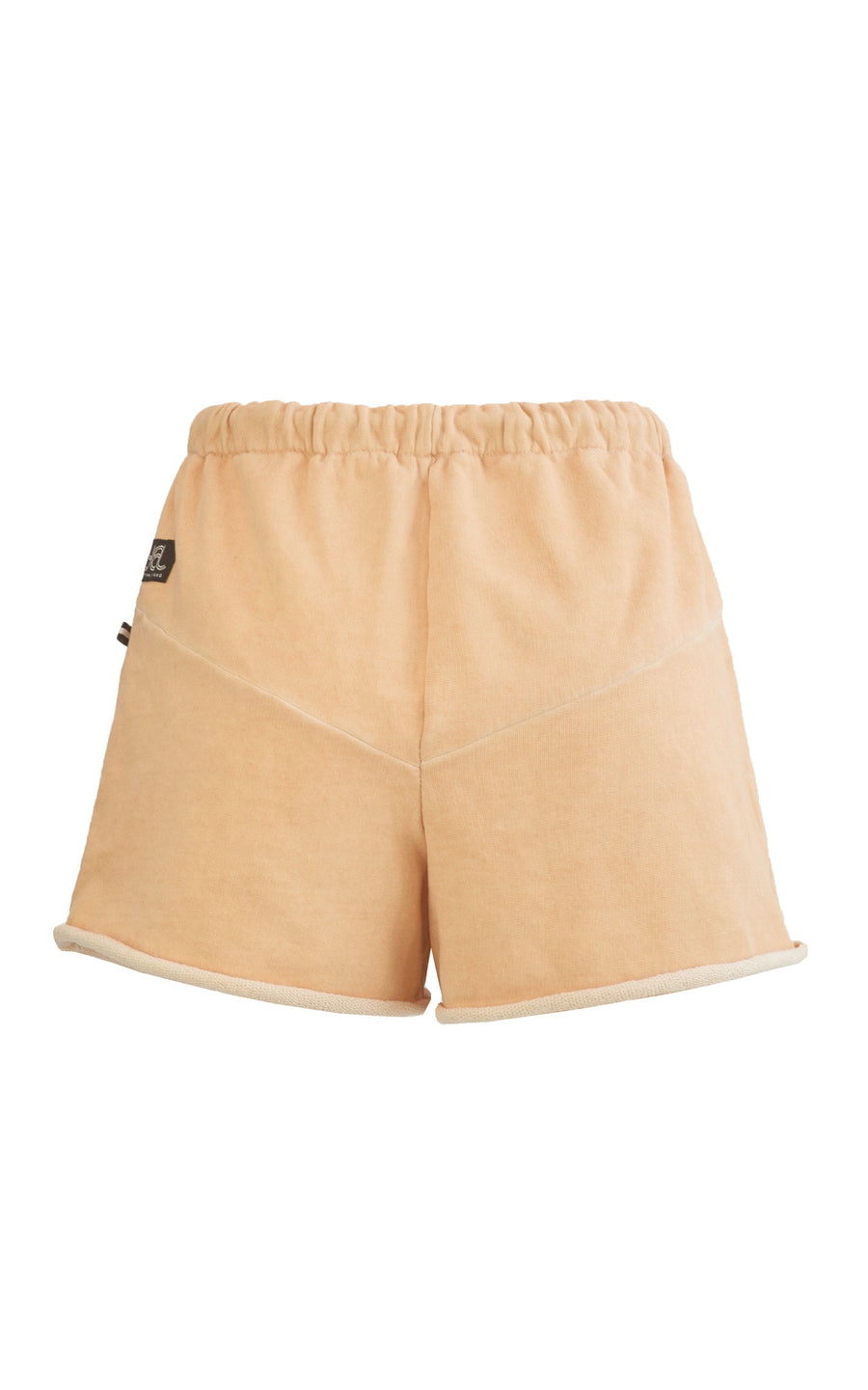 Shortie Sweat Shorts. Apricot