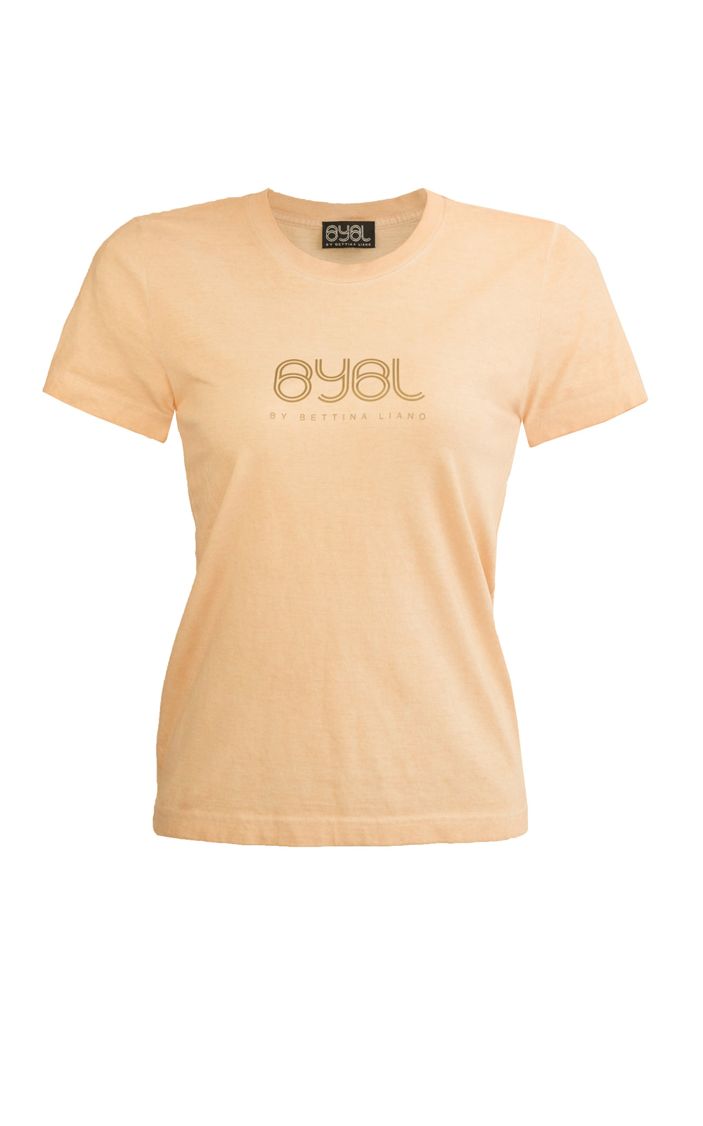 Brooklyn T Shirt. Apricot
