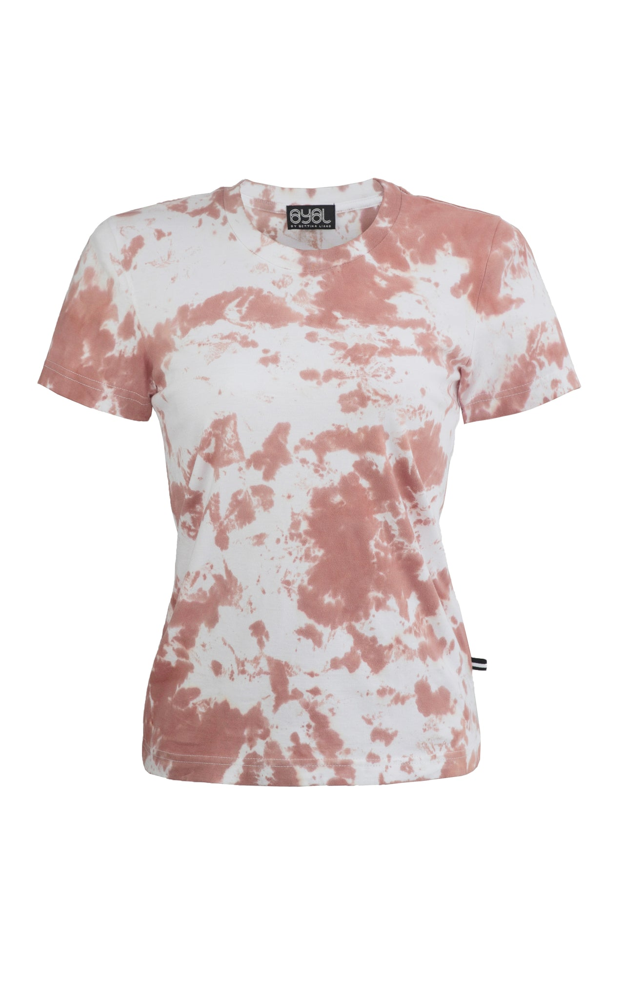 Brooklyn T Shirt. Tie dye Nude.
