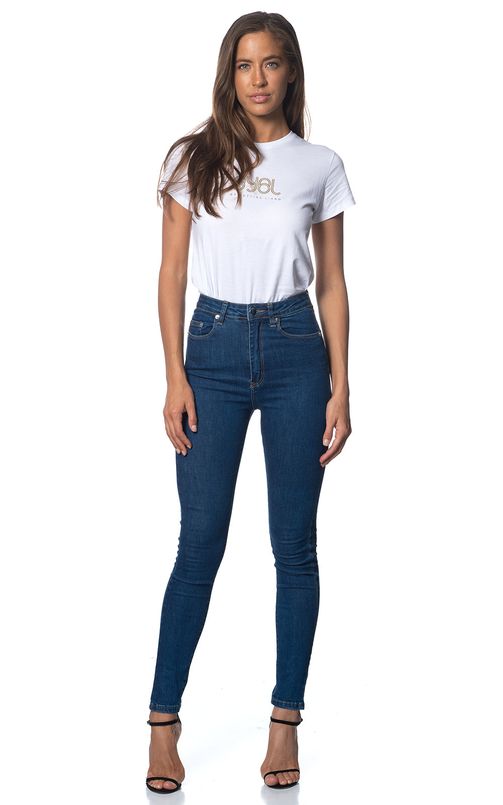Hannah Jean. Stretch. High Rise. Blue Flame Wash