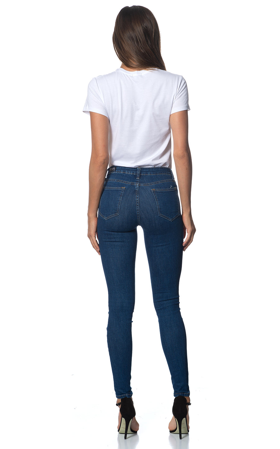 Loz Jean. Stretch.Low Rise. Blue Flame Wash