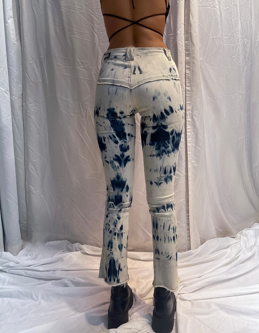 Rodeo Jeans. Stretch.  Hand Dye. Pale Blue